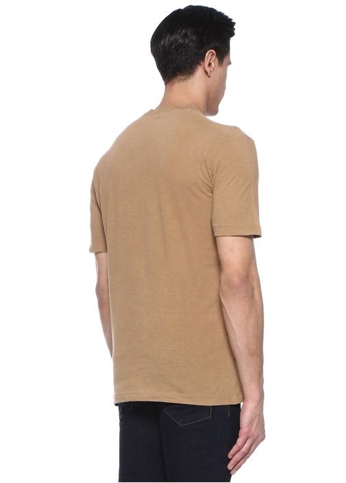 Kahverengi Baskılı T-shirt