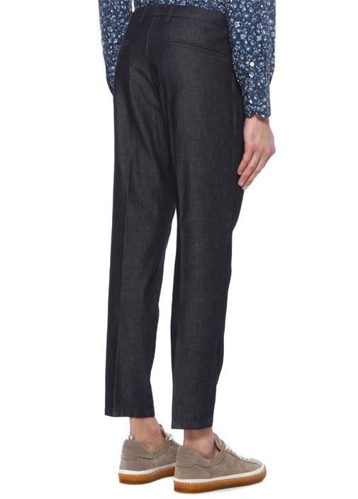 Lacivert Normal Bel Denim Görünümlü Pantolon