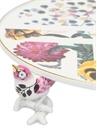 Primavera Beyaz Kuş Detaylı Porselen Servis Tabağı