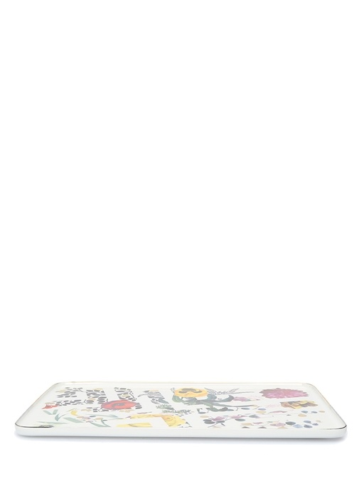 Primavere Beyaz Baskılı Porselen ServisTabağı