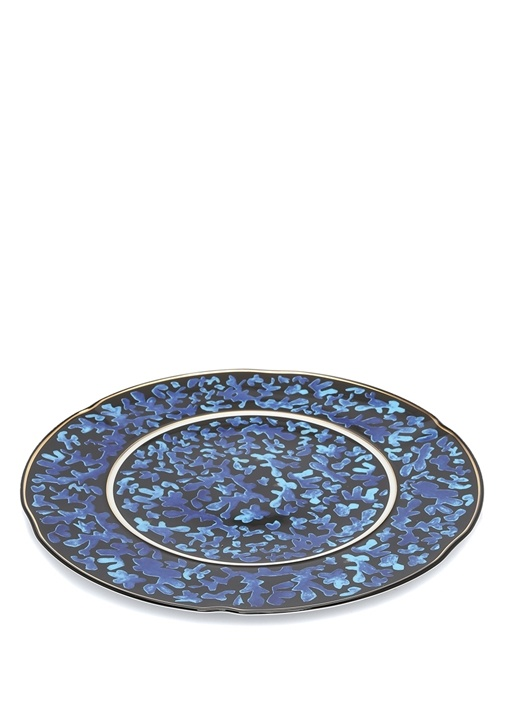 Cannaregio Mavi Gold Çerçeveli PorselenSupa