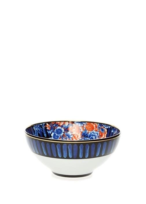 Cannareigo Mavi Şerit Detaylı Porselen Kase