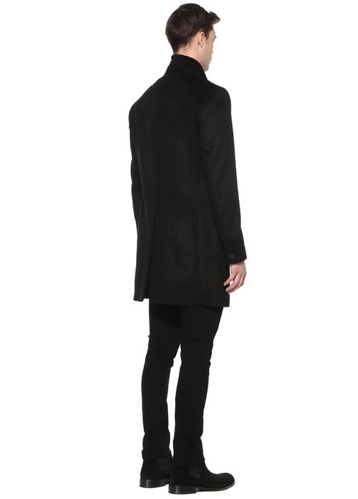 Bodell Siyah Kelebek Yaka Yün Palto