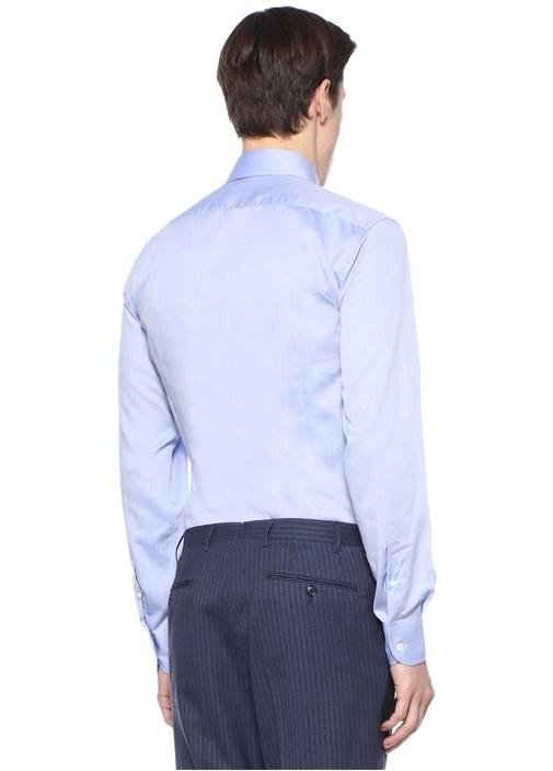 Drop 2 Mavi İngiliz Yaka Gömlek
