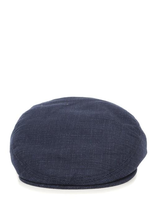 Lacivert Erkek Yün Şapka