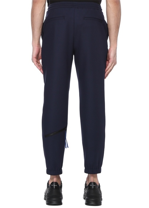 Lacivert Normal Bel Logolu Pantolon