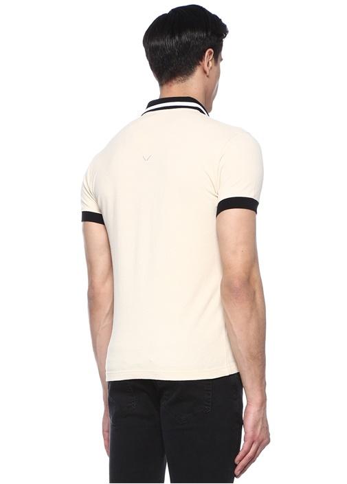 Bej Kaplan Patchli Polo Yaka T-shirt