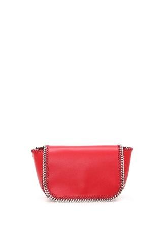 d51167bce1560 Kırmızı Mini Zincir Detaylı Kadın Omuz Çantası