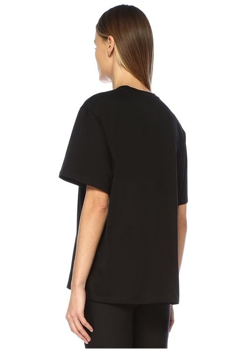 2001 Siyah Logo Baskılı T-shirt