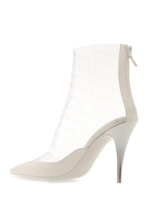 Monogram Beyaz Transparan Topuklu Ayakkabı