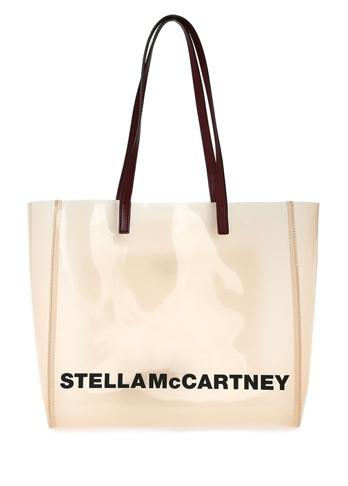 Stella Mccartney Small Somon Transparan Kadın Omuz Çantası – 3599.0 TL