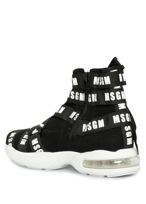 Air Cushion Siyah Çapraz Logolu Kadın Sneaker