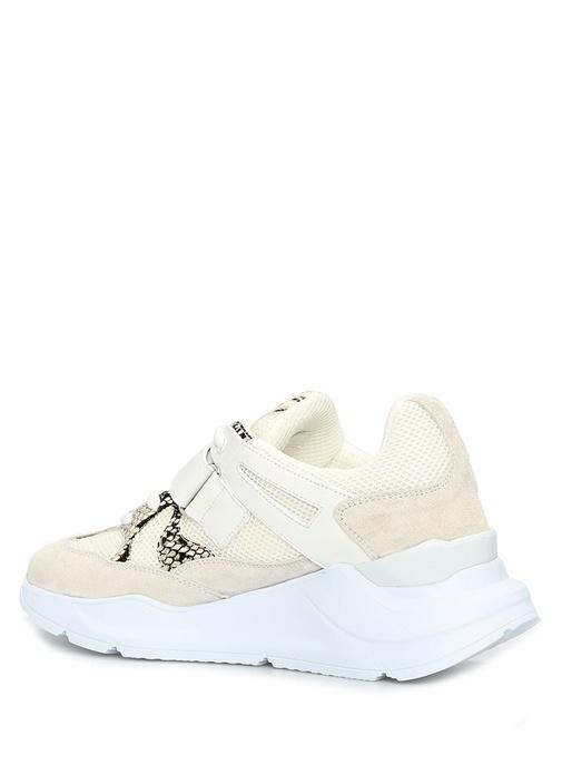 Strap Hiking Beyaz Dokulu Kadın Deri Sneaker