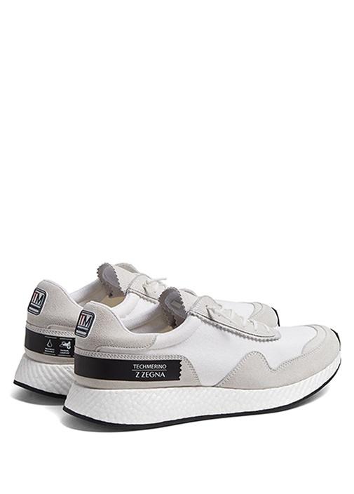 Beyaz Technomerino Özellikli Erkek Sneaker