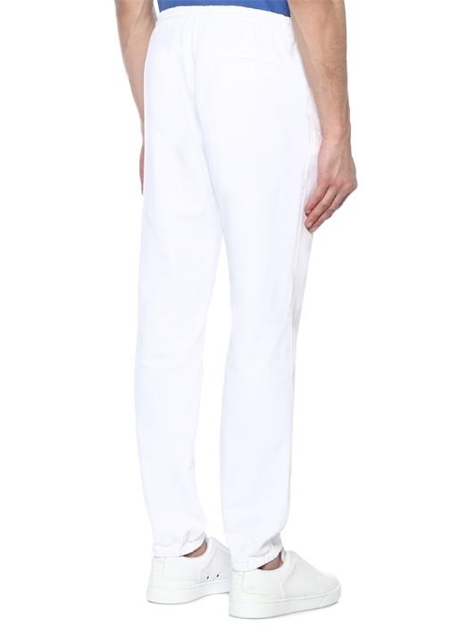 Beyaz Normal Bel Spor Pantolon