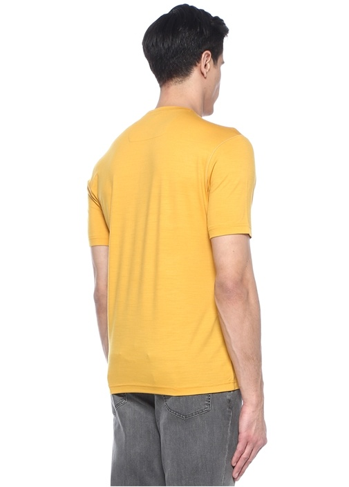 Sarı Baskılı Techmerino Özellikli T-shirt