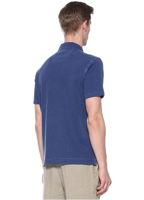 Lacivert Polo Yaka Denim Görünümlü T-shirt