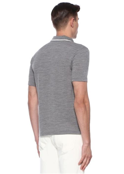 Gri Polo Yaka Techmerino Özellikli T-shirt