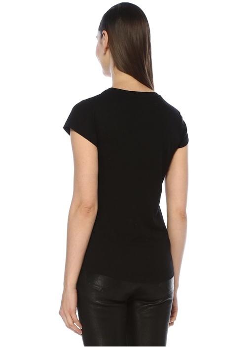 Skinny Foil Blason Siyah Gold Baskılı T-shirt