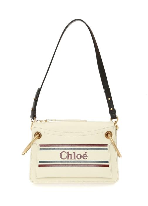 27e8f65b5d106 Chloe Roy Small Beyaz Logolu Kadın Deri Omuz Çantası – 14450.0 TL