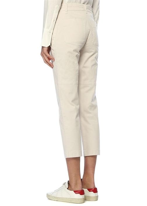 Açık Gri Yüksek Bel Streç Pantolon