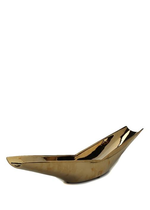 Gold Gondol Formlu Seramik Dekoratif Obje