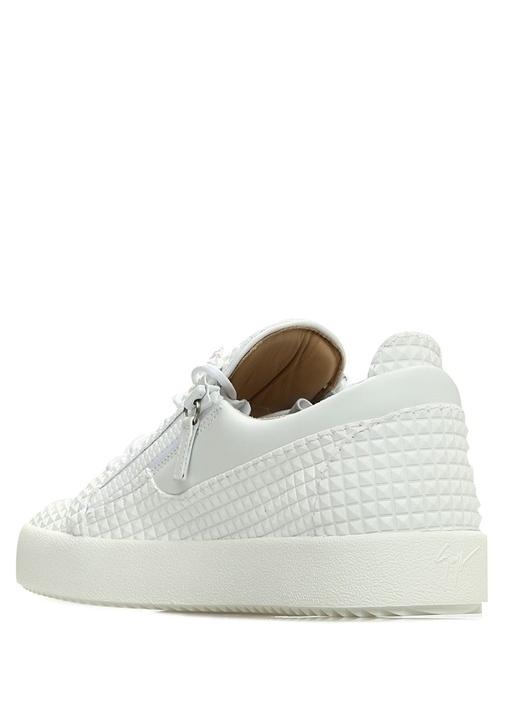 Doris Beyaz Troklu Erkek Deri Sneaker