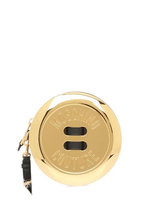 Siyah Gold Logo Tabakalı Kadın Abiye Çanta