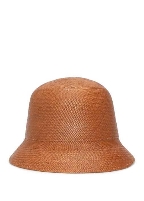 Lady Queen Kahverengi El Yapımı Kadın Hasır Şapka