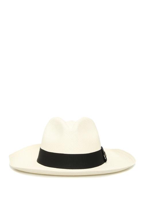 Classic Long Brim Beyaz Kadın Hasır Şapka