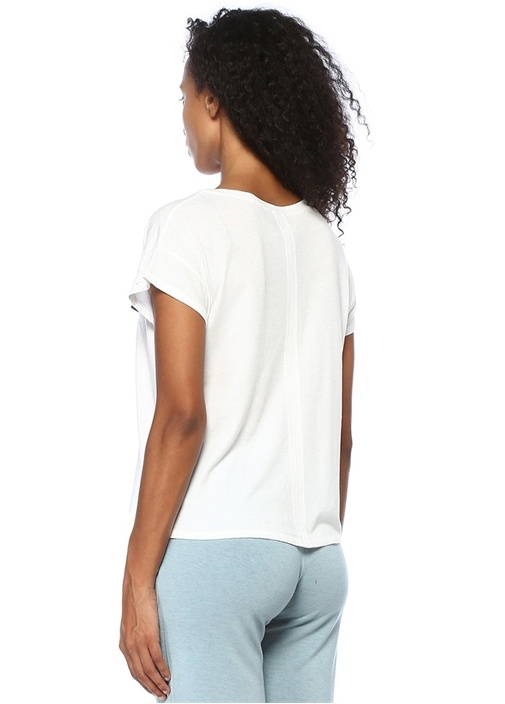 Thankful For Fridays Baskılı Beyaz Basic T-shirt