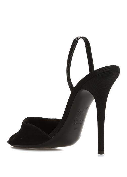 Alien Siyah Taş İşlemeli Kadın Gece Ayakkabısı