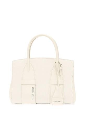 Miu Kadın Madrac Beyaz Dokulu Deri Çanta Ürün Resmi