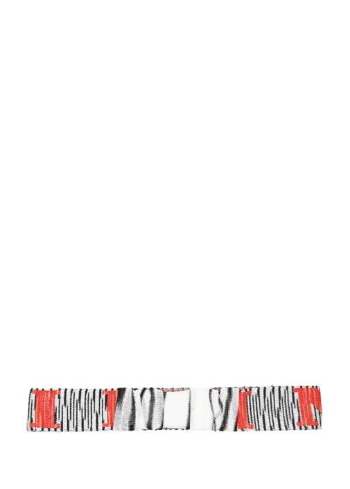 Colorblocked Logo Jakarlı Kadın Saç Aksesuarı