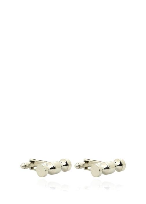 Silver Silindir Formlu Kol Düğmesi