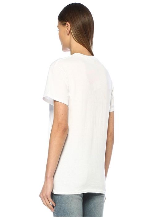Downtown Bears Beyaz Kırmızı Baskılı T-shirt