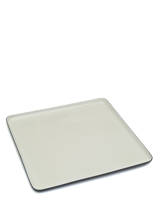 Kare El Yapımı Porselen Servis Tabağı