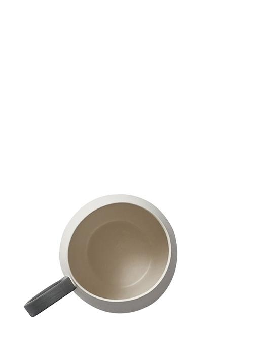 Tube Siyah Krem El Yapımı Porselen Kupa