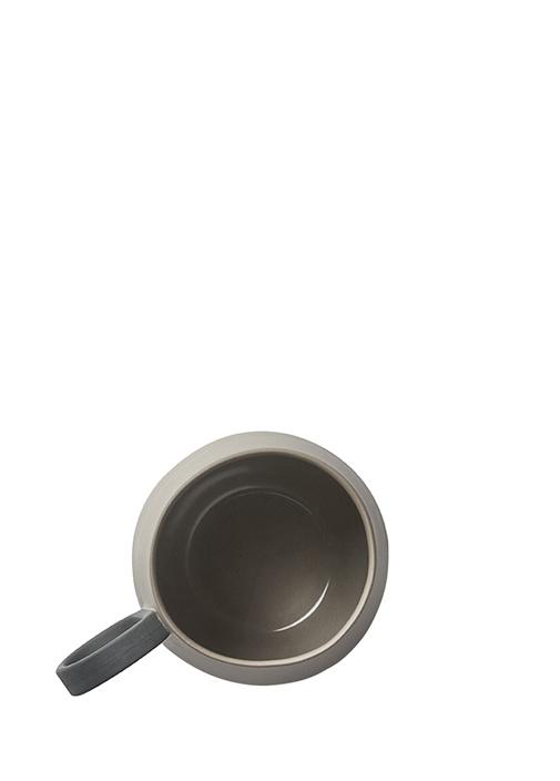 Tube Siyah Vizon El Yapımı Porselen Kupa