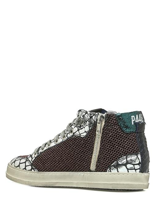 A8 Lovebs Bronze Pul Detaylı Kadın DeriSneaker
