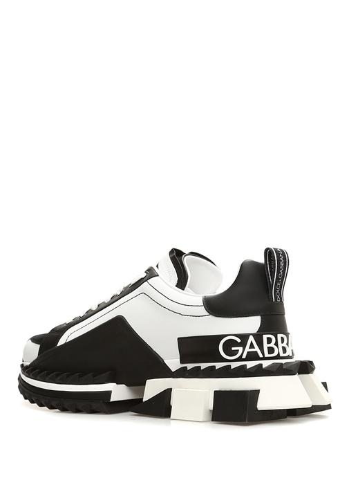 Super King Siyah Beyaz Taban Detaylı Erkek Sneaker