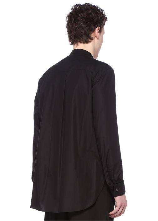 Siyah Hakim Yaka Cepli Gömlek