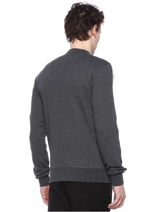 Antrasit Şerit Detaylı Sweatshirt