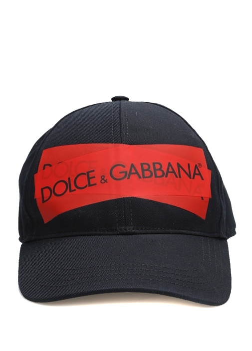 Siyah Kırmızı Çapraz Logolu Erkek Şapka