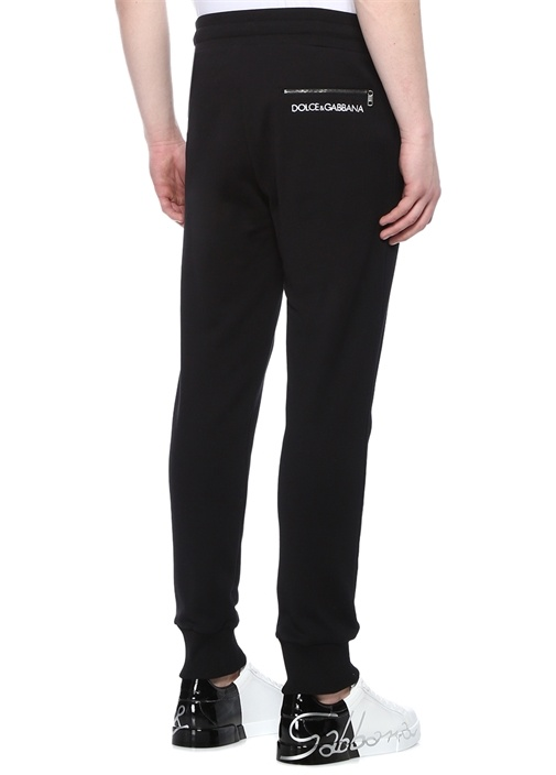 Siyah Normal Bel Logolu Jogger Eşofman Altı