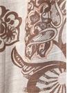 Bej Etnik Desenli Erkek İpek Atkı