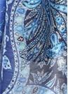 Mavi Etnik Desenli Erkek Keten Atkı