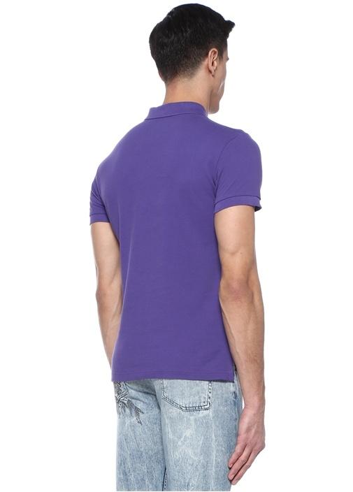 Mor Polo Yaka Logolu T-shirt