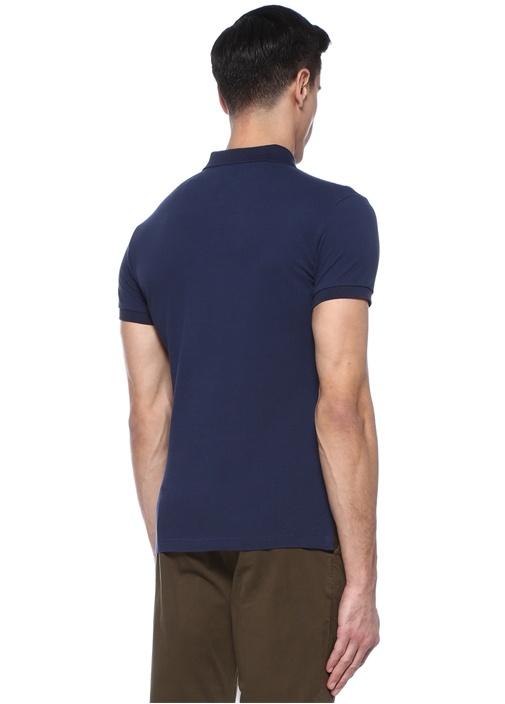 Lacivert Polo Yaka Logolu T-shirt
