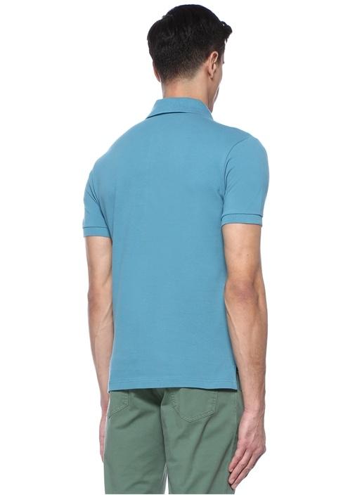 Mavi Polo Yaka Logolu T-shirt